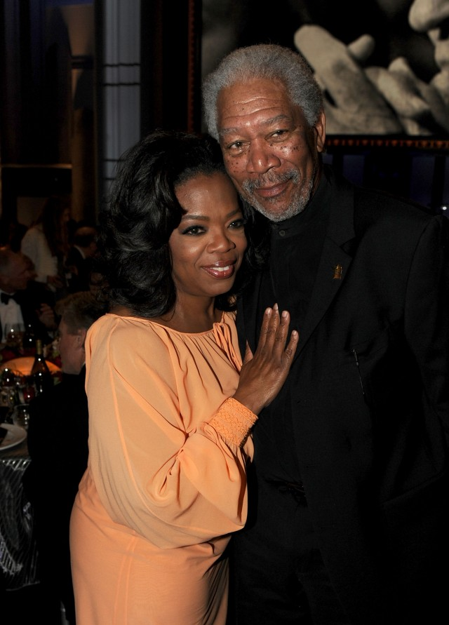 Oprah Winfrey and Morgan Freeman
