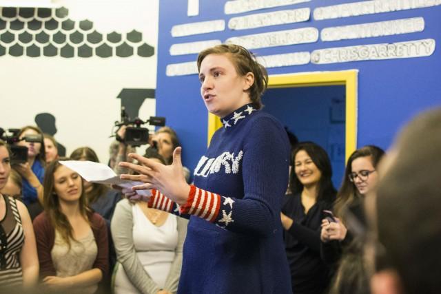 Lena Dunham endorses Hillary Clinton