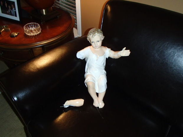 Baby Jesus figurine (Photo: Edwardsville Police Department)