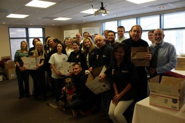 Volunteers helped pack care packages. (Credit: Francesca Collins)