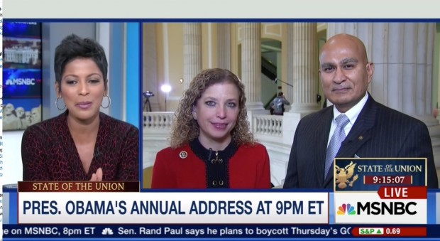 MSNBC Host: SOTU Is Bring Your Muslim To Work Day For Democrats [screen shot MSNBC]