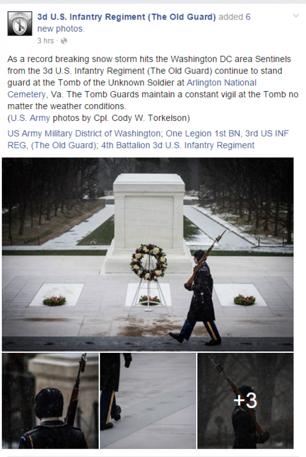 The Old Guard Facebook Post Screenshot