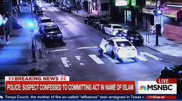 Philadelphia Jihadi Terrorist Attempts To Assassinate Cop But The Officer Survives [screen shot MSNBC image 2]