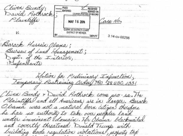 """Cliven Bundy"" and David Rothrock lawsuit against President Obama"