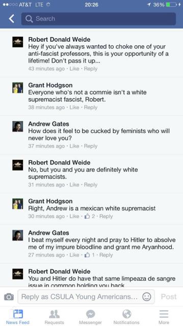 Prof. Robert Weide's lengthy argument with people on Facebook [Facebook screengrab]