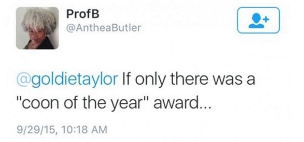 Anthea Butler tweet screen capture