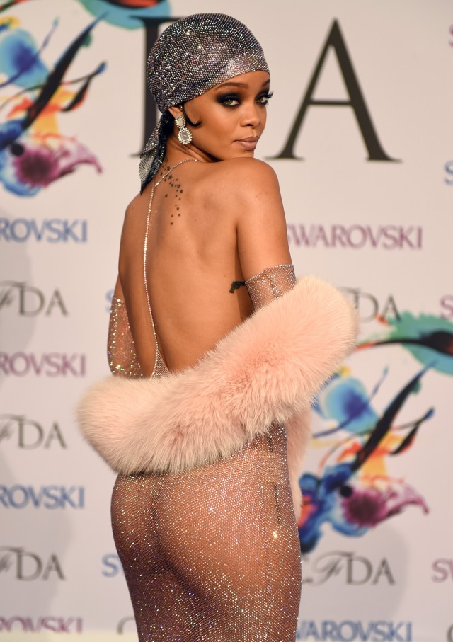 Rihanna diamond dress