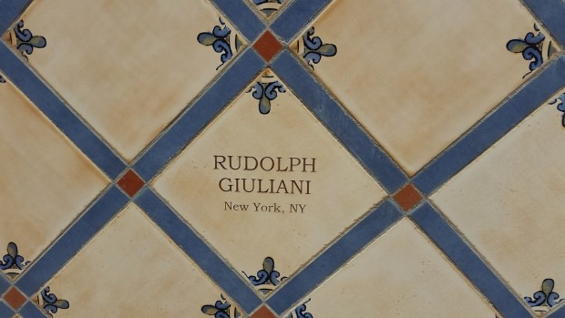 Giuliani School Tile On Donor Wall at Cigar Family Foundation School in Bonao, Dominican Republican
