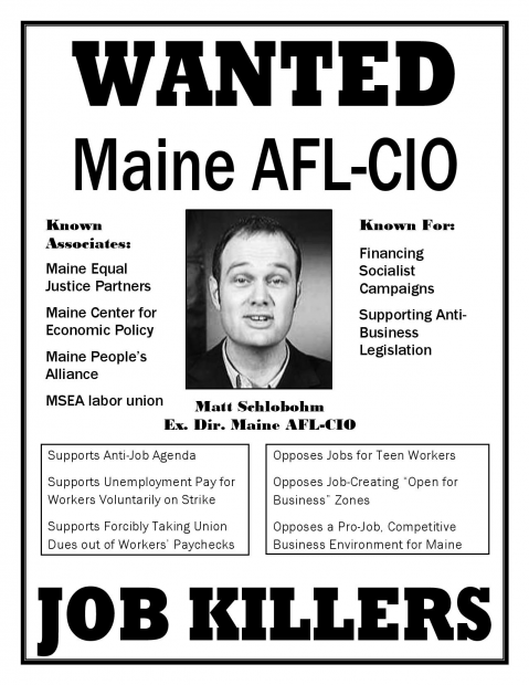 (Printed with permission by the office of Maine Gov. Paul LePage)