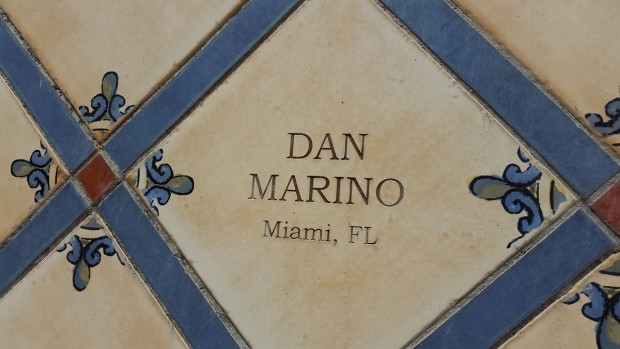 Dan Marino Donor Tile On Donor Wall of The Cigar Family Foundation School in Bonao, Dominican Republic