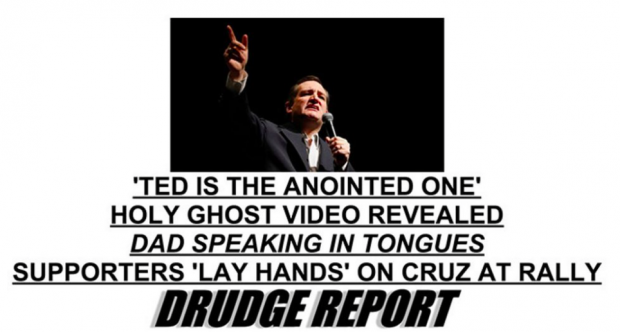Screen capture from the Drudge Report