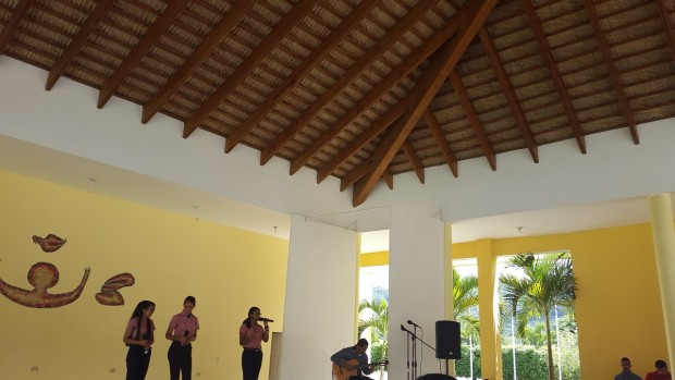 Students performing at the Cigar Family Foundation School in Bonao, Dominican Republic