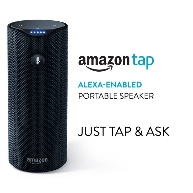 Take advantage of the rare sale on the Echo products to get the Amazon Tap (Photo via Amazon)
