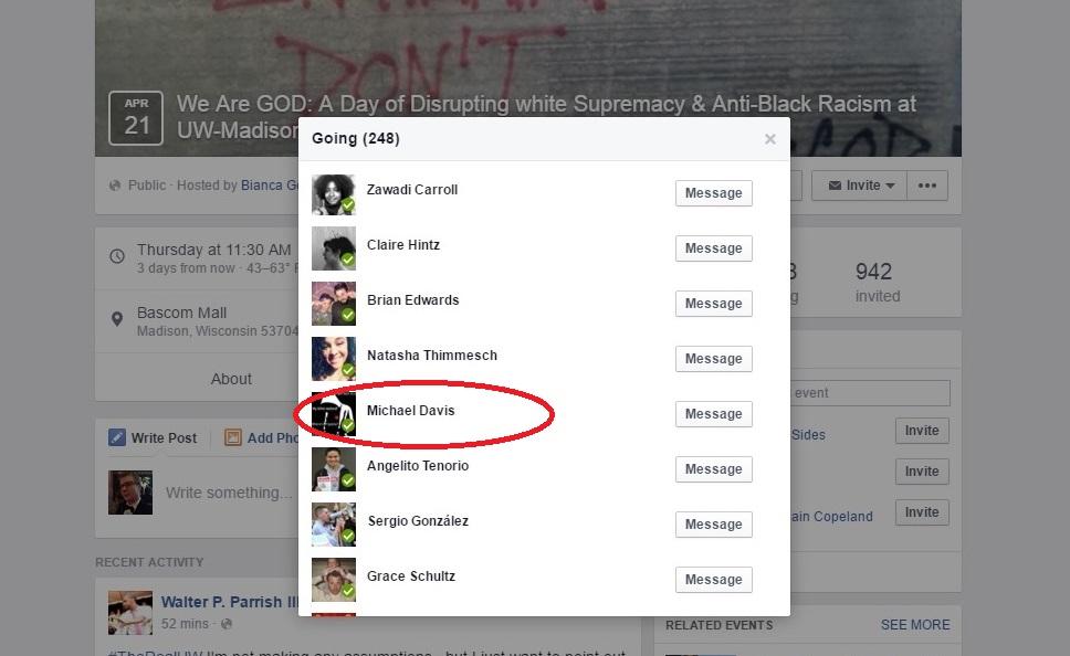 Davis going Facebook