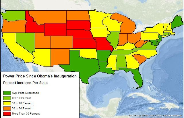 Source: Map Created By Daily Caller News Foundation using data from Energy Information Administration