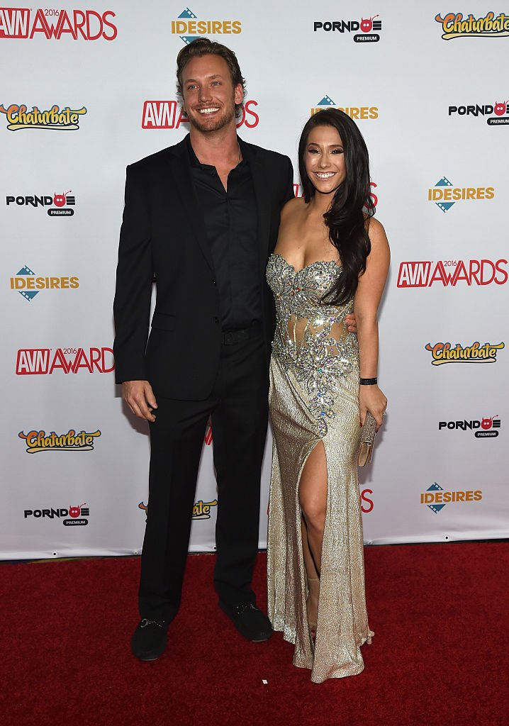 Erik Horbacz (L) and adult film actress Eva Lovia attend the 2016 Adult Video News Awards at the Hard Rock Hotel & Casino on January 23, 2016 in Las Vegas, Nevada. (Photo by Ethan Miller/Getty Images)