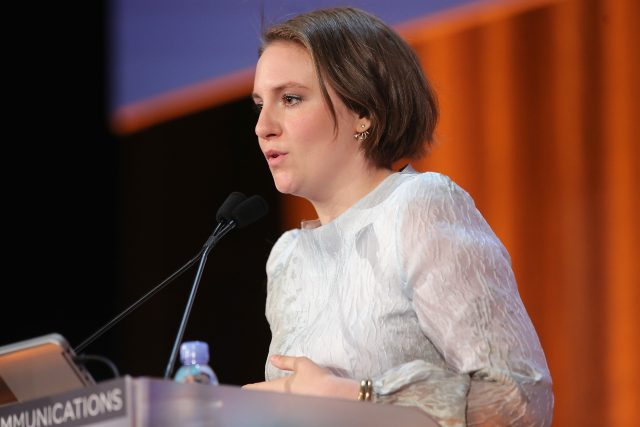 NEW YORK, NY - APRIL 25: (EXCLUSIVE COVERAGE) Actress Lena Dunham speaks onstage during the 2016 Matrix Awards at The Waldorf Astoria on April 25, 2016 in New York City. (Photo by Jemal Countess/Getty Images)