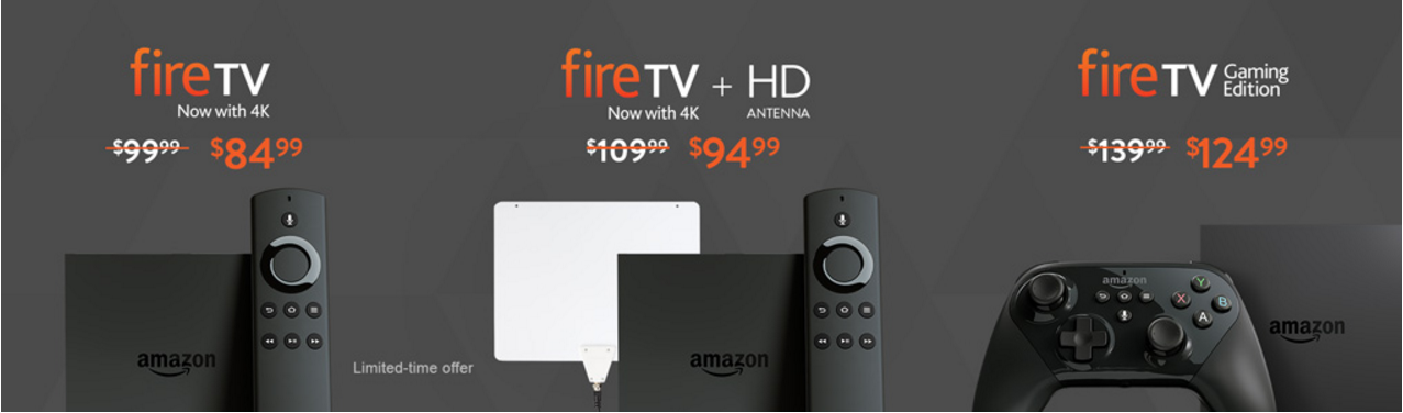 Fire TVs are on sale (photo via Amazon)