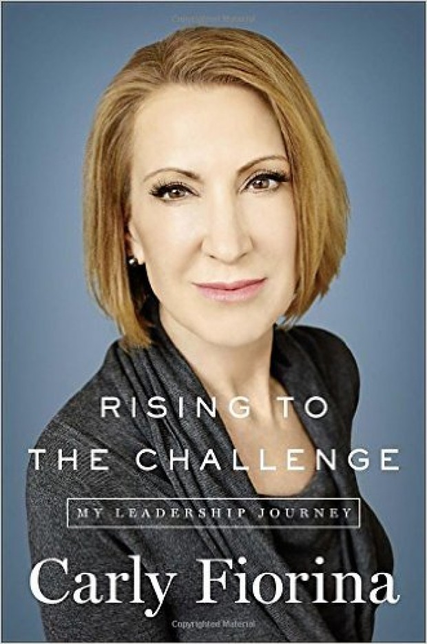 """Rising to the Challenge"" details Carly's policy positions (Photo via Amazon)"