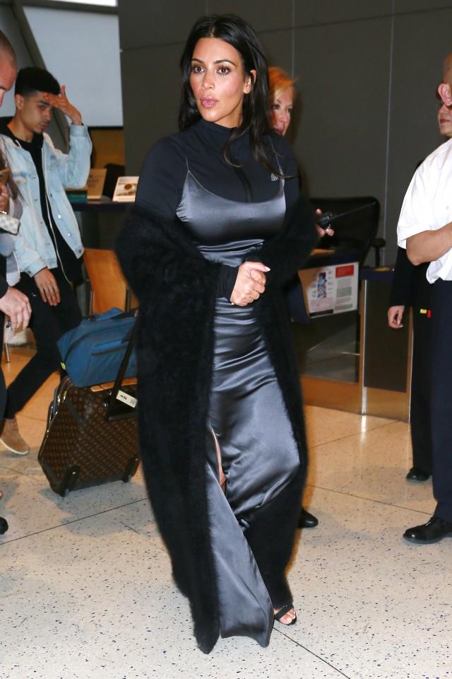 Kim Kardashian wears strange outfit