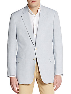 This Armani sport coat is perfect for the summer and is also 73 percent off (Photo via Saks OFF Fifth)