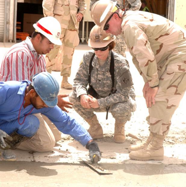 Col. Debra Lewis, in Iraq 2006, 2007 (Courtesy Debra Lewis)