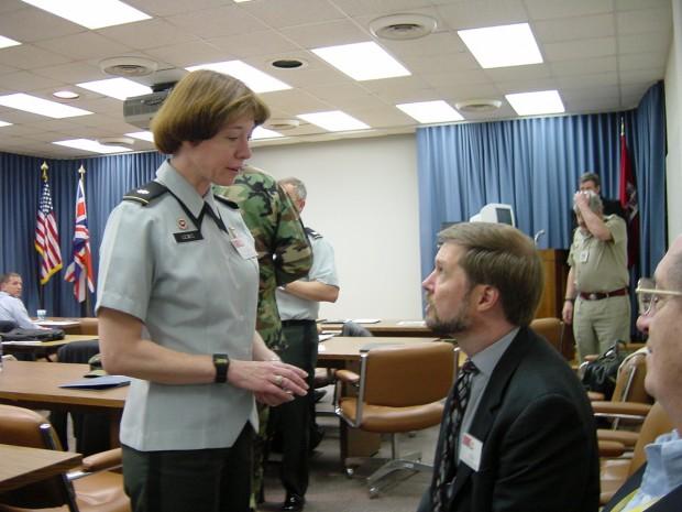 Debra Lewis at Pentagon, 2001. (Courtesy Debra Lewis)