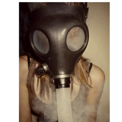 You can emulate the best player in the NFL draft with this gas mask bong (Photo via Amazon)