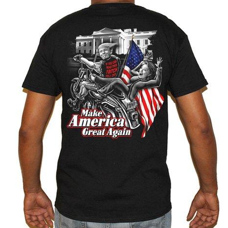 Help Trump make America great again by throwing Hillary off the bike (Photo via Amazon)
