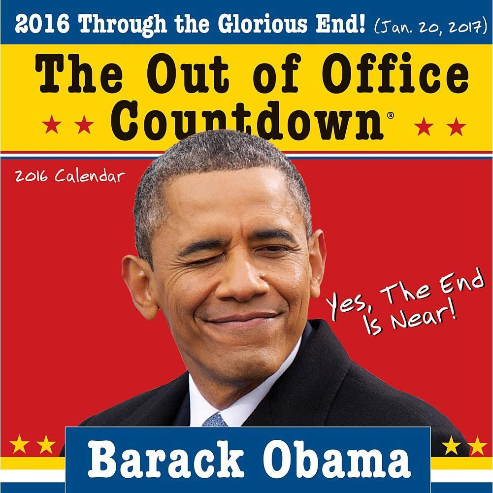 This calendar is a must-have for those anxiously awaiting the end of the Obama nation (Photo via Amazon)
