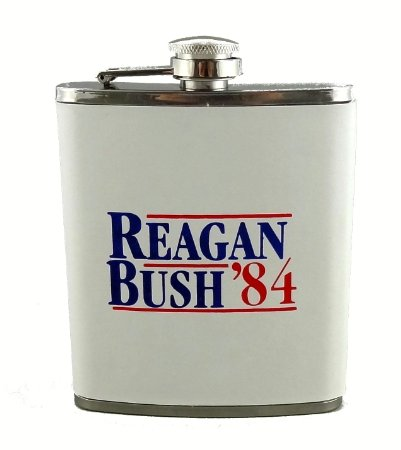 These Reagan flasks are a necessary addition to outdoor drinking season (Photo via Amazon)