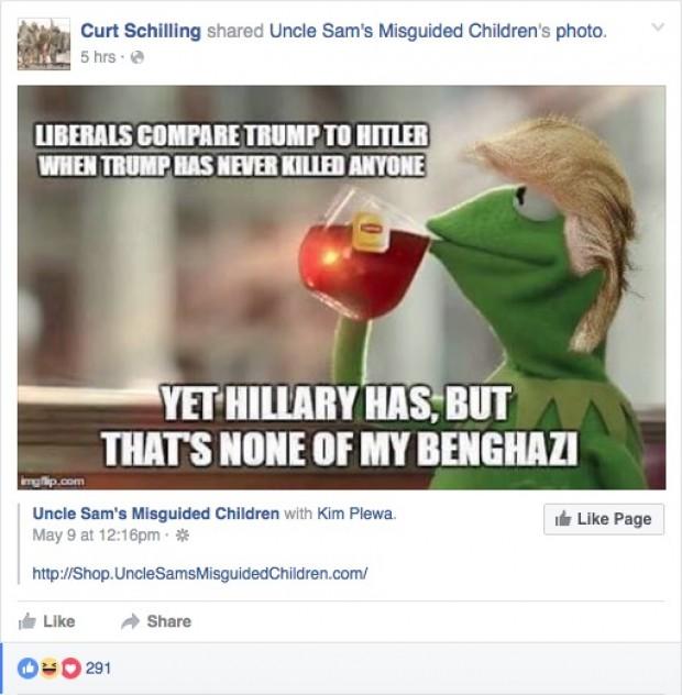 Curt Schilling Facebook post (Credit: Screenshot/Facebook Curt Schilling)