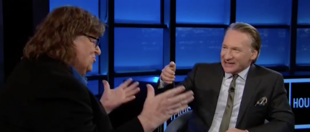 "Michael Moore on ""Real Time with Bill Maher."" (Screen shot HBO)"