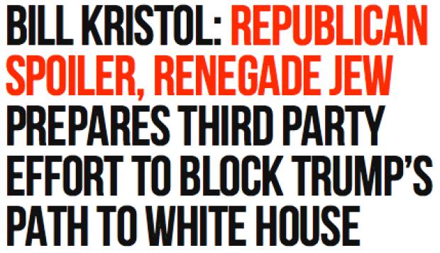 Breitbart's Bill Kristol Headline