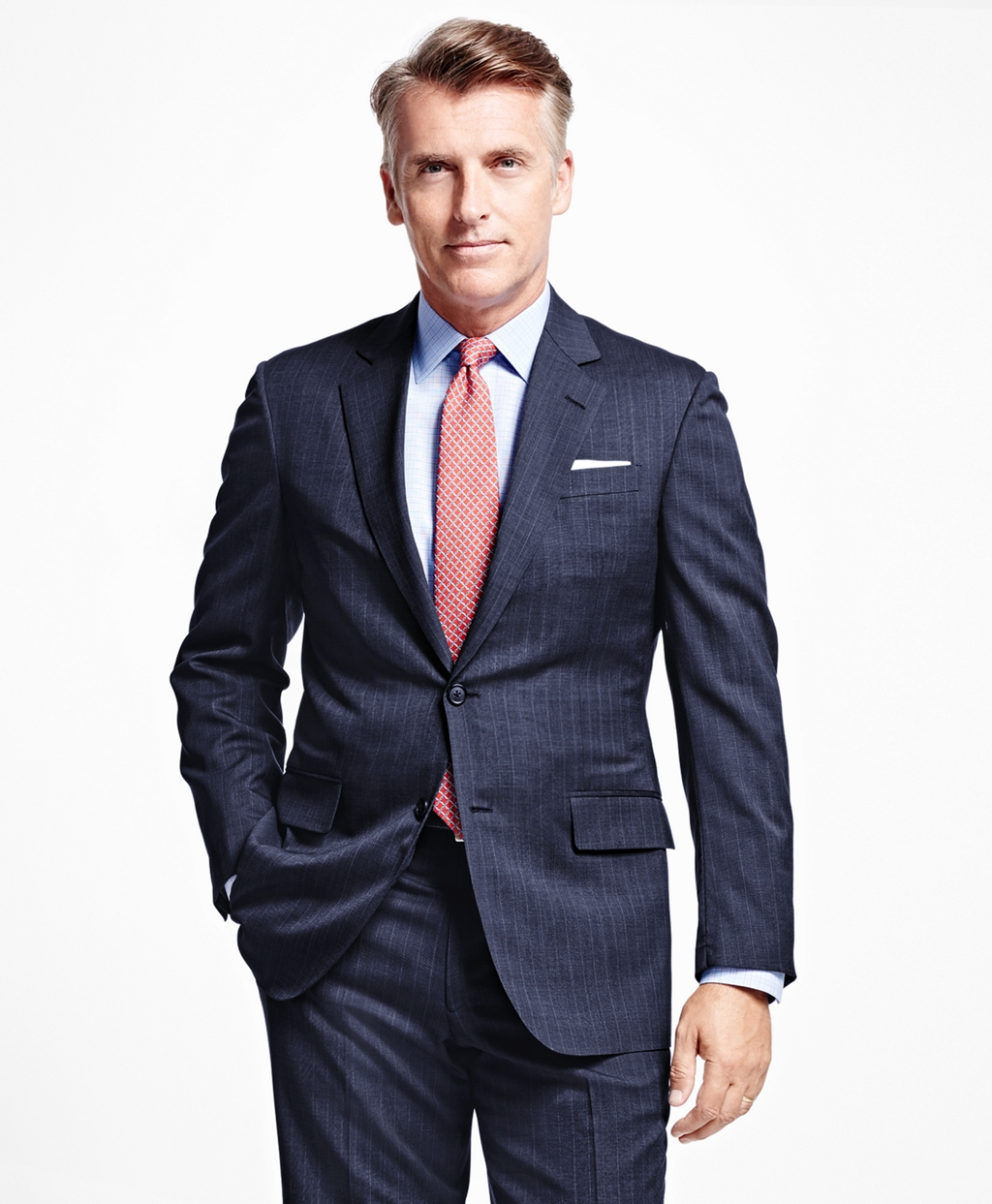 Brooks Brothers summer suits are currently 2 for $899 (Photo via Brooks Brothers)