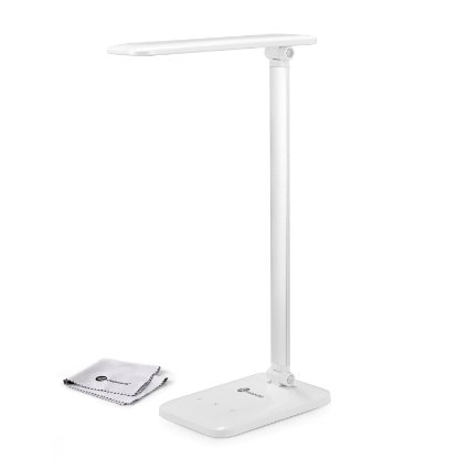 The white version of the TaoTronics Dimmable LED Desk Lamp is also 60 percent off (Photo via Amazon)