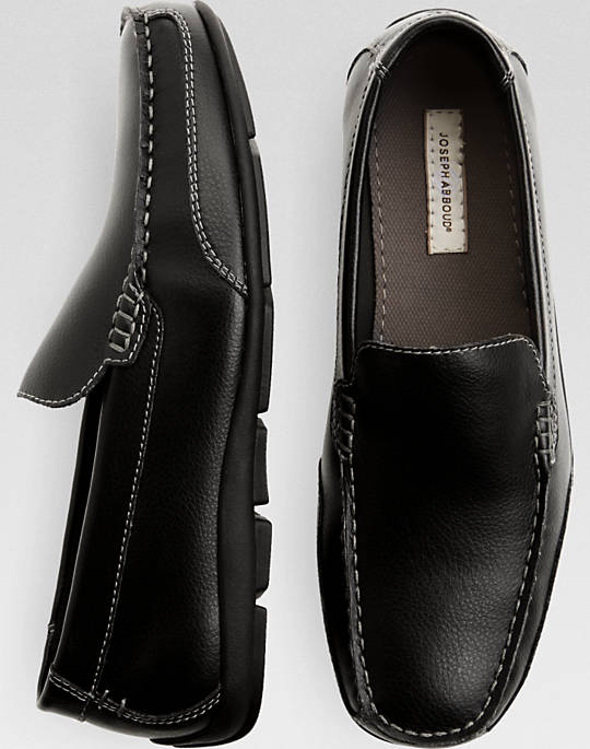These black Joseph Abboud driver loafers are normally $80 (Photo via Men's Wearhouse)