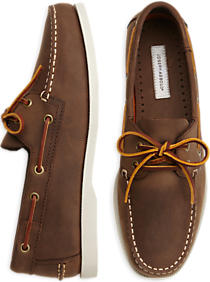 Joseph Abboud brown boat shoes are only $30 today (Photo via Men's Wearhouse)