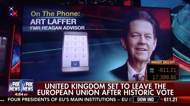 Art Laffer, Screen Grab Fox News, 6-24-2016
