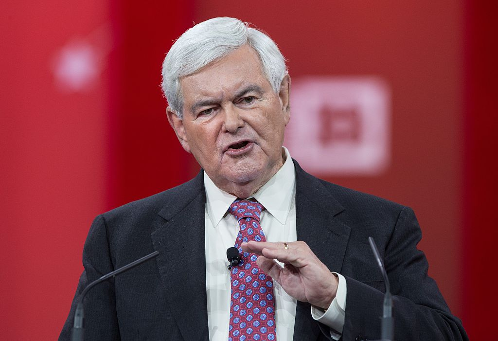 Former US House Speaker Newt Gingrinch speaks at the annual Conservative Political Action Conference (Getty Images)