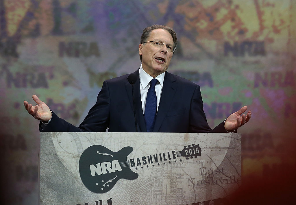 NRA executive vice president Wayne LaPierre speaks during the NRA-ILA Leadership Forum (Getty Images)