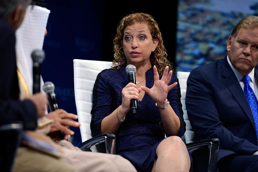 Debbie Wasserman Schultz speaks on stage during the 2015 Concordia Summit (Getty Images)