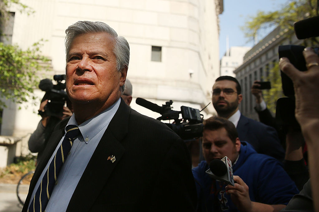 Former New York State Senate Majority Leader Dean Skelos walks into a Manhattan court for his sentencing on May 12, 2016 in New York, New York. (Getty Images)