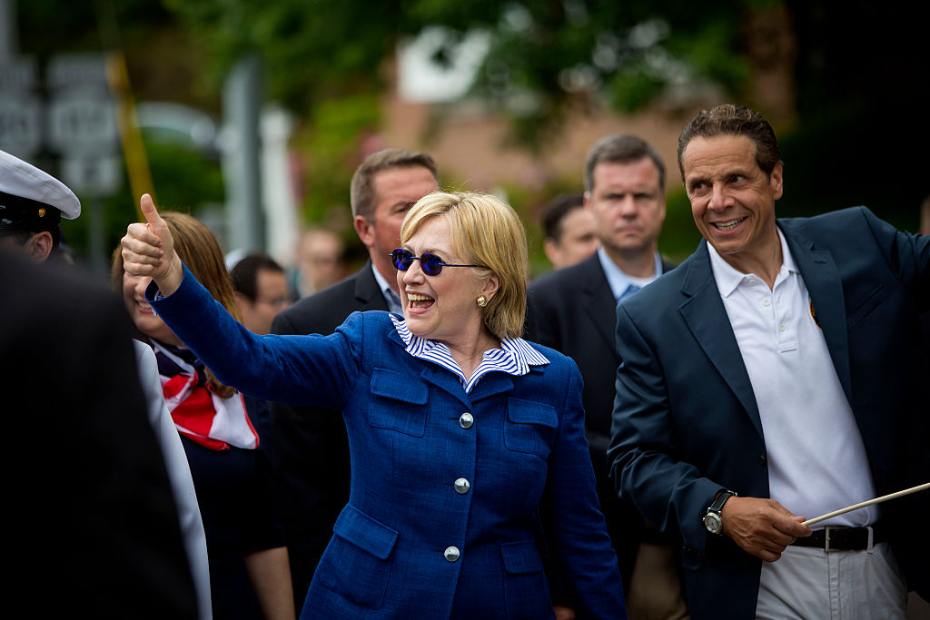 Gov. Cuomo campaigns with Hillary Clinton on Memorial Day (Getty Images)