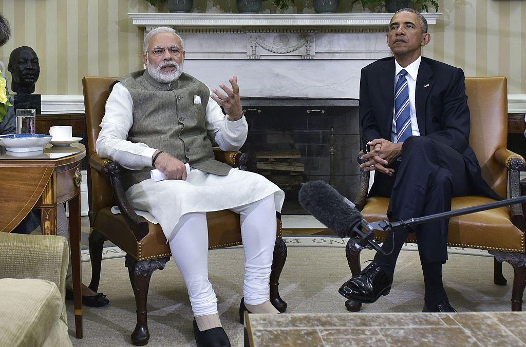 Prime Minister Narendra Modi and President Barack Obama, June 7 2016 (Getty Images)