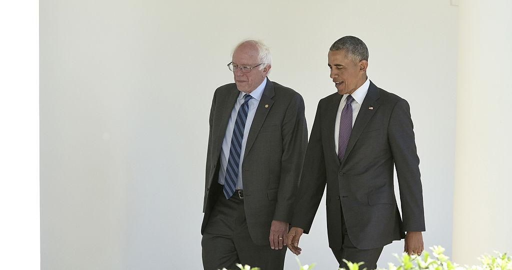 Bernie Sanders and Barack Obama (Getty Images)