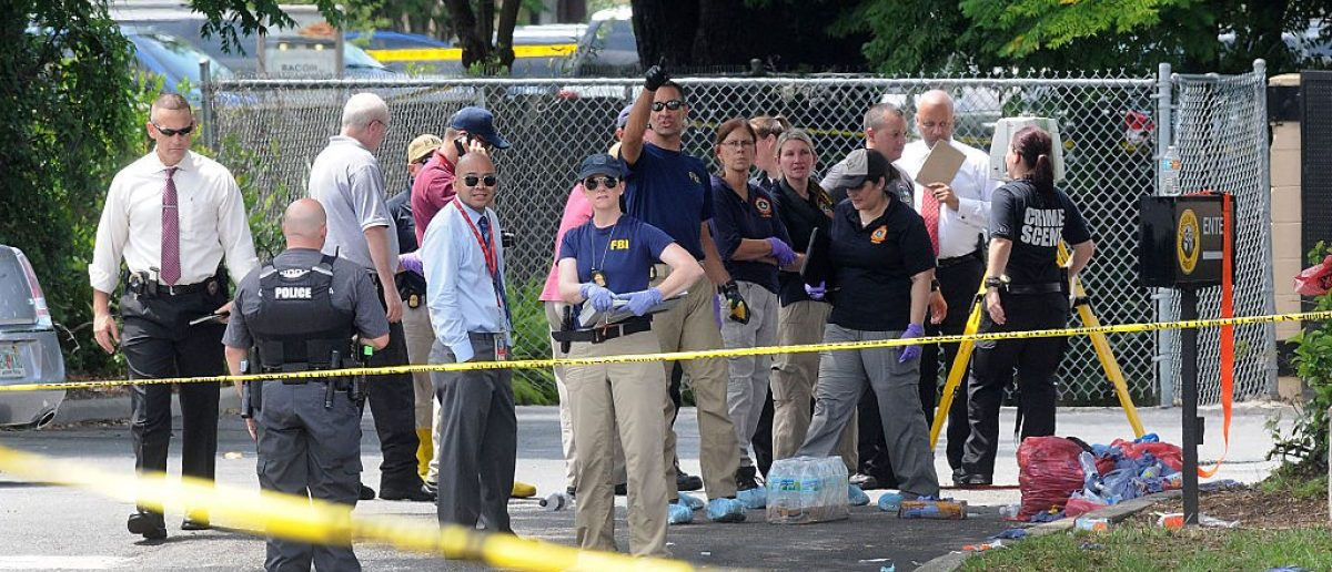 ORLANDO, FLORIDA - JUNE 12: FBI agents seen outside of Pulse nightclub after a fatal shooting and hostage situation on June 12, 2016 in Orlando (Getty Images)