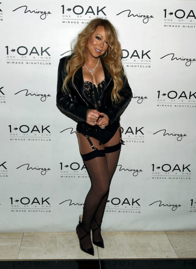 eefdf4cf027 Mariah Carey Wore Nothing But A Leather Jacket And Lingerie In Las ...