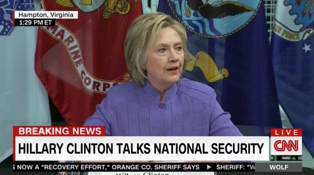 Hillary Clinton, Screen Grab CNN, 6-15-2016