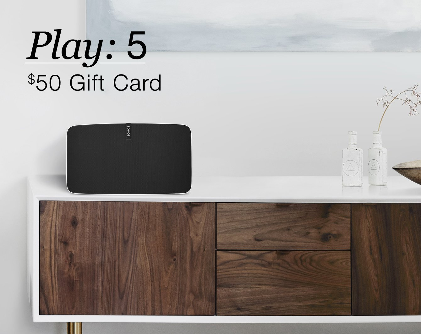 If you buy a $499 SONOS Play: 3, you can get a $50 gift card to Sonos, Best Buy or Amazon (Photo via Amazon)